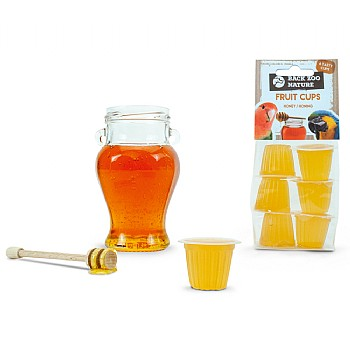 Fruit Cups Honey - Jelly Parrot Treats - Pack of 6