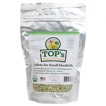 TOP`s Organic Parrot Food - Small Pellets