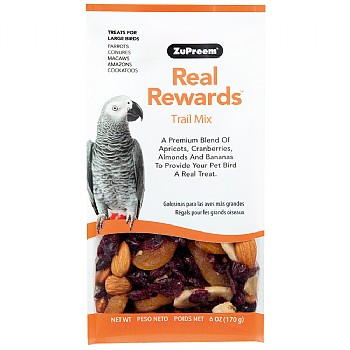 ZuPreem Real Rewards Trail Mix for Large Parrots - 6oz
