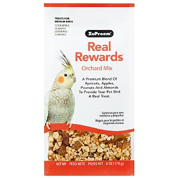 ZuPreem ZuPreem Real Rewards Orchard Mix for Medium Parrots - 6oz