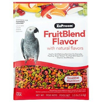 ZuPreem FruitBlend Med/Lrg - Complete Food for Parrots
