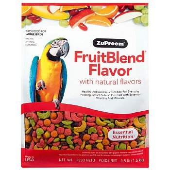 ZuPreem FruitBlend Large - Complete Food for Large Parrots