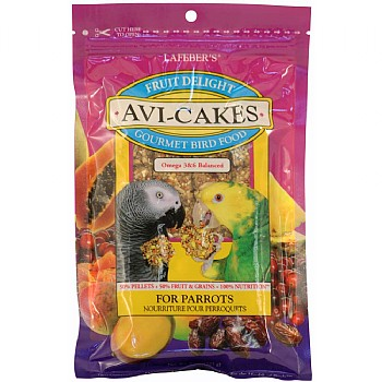 Lafeber Fruit Delight AviCakes for Parrots - 227g