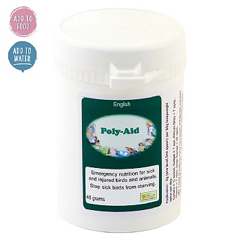Poly-Aid - 40g - Emergency Nutrition for Pet Birds & Parrots