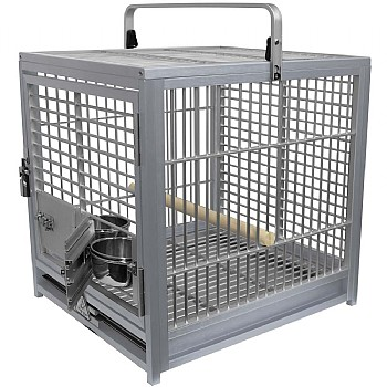 Kings Cages King`s Cages Aluminium Parrot Travel Cage - Medium