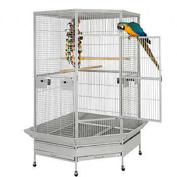 Liberta 2nd Edition Raleigh Large Solid Top Corner Parrot Cage