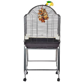 Brazil 2 Parrot Cage and Stand - Antique