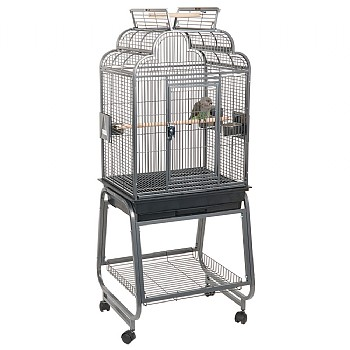 Peru Top Opening Parrot Cage with Stand - Antique