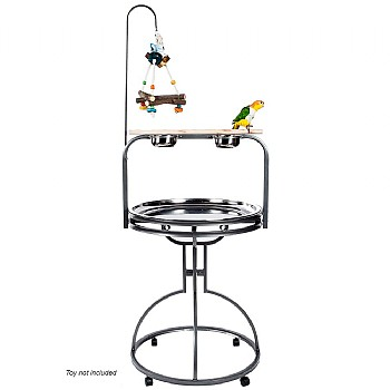 Forest Round Parrot Play Gym Stand - Antique