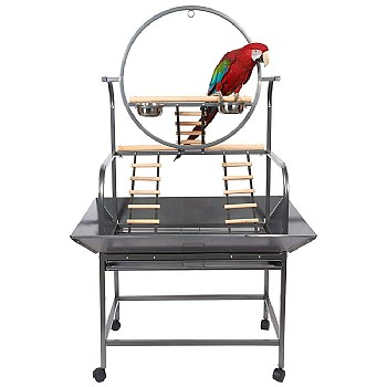 Forest Tower Parrot Play Gym Stand - Antique
