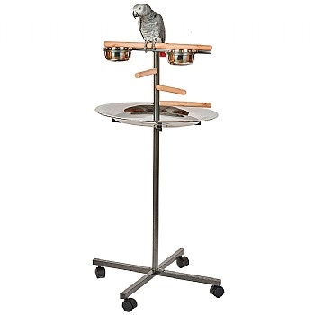 Rainforest Cages T-Bar Parrot Stand - Black