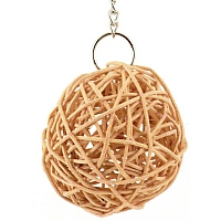 Woven Vine Ball on Chain Parrot Toy - Large