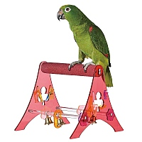 Sanded Nail Trimming Tabletop Parrot Stand - Large