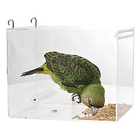 Parrot Food Mate - Acrylic Less Mess Feeder - Large