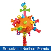 Nuts, Bolts & Binkies Puzzle Parrot Toy - Medium