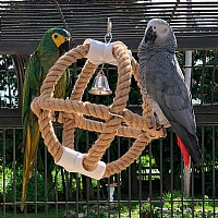 Parrot Planet Jute Swinger Parrot Toy