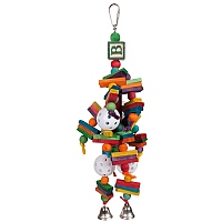 Woodys Wonder Wood and Rope Parrot Toy
