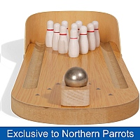 Ten Pin Bowling Parrot Toy