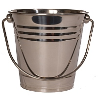 Stainless Steel Bucket - Foraging Parrot Toy