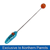 Clicker with adjustable Target Stick for Parrot Training