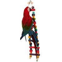 Rainbow Wooden Parrot Ladder - Medium