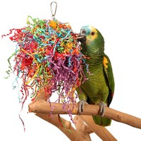 Crinkle and Crunch Chewable Foraging Parrot Toy