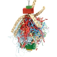 Plaited Pleasure Preening Toy for Parrots