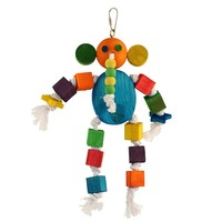 Eric Elephant Wood & Rope Parrot Toy