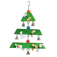 Jingle Bell Christmas Tree Parrot Toy