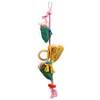 Triple Foraging Pouches Parrot Toy
