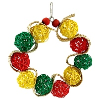 Vine Ball Ring Parrot Toy
