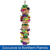 Colour Splash Chewable Parrot Toy - Large