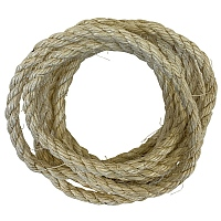 Natural Sisal Rope Parrot Toy Making Part - 10mm x 3m