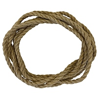 Natural Jute Rope Parrot Toy Making Part - 6mm x 3m