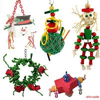 Christmas Parrot Toy Pack