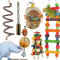 African Grey & Amazon Value Parrot Toy Pack