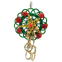 Vine Mat Wreath - Christmas Parrot Toy