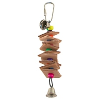 Leather Brochette Parrot Toy - Mini