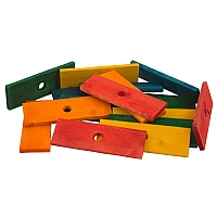 Coloured Wood Slices Medium - Parrot Toy Parts - Pack of 17