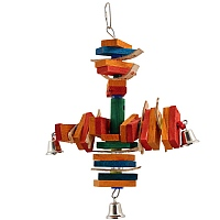 Radar Wood & Leather Parrot Toy - Medium