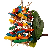 Pianossimo - Large Wood & Sisal Rope Parrot Toy