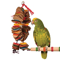 Shredding Coronet Parrot Toy - Medium
