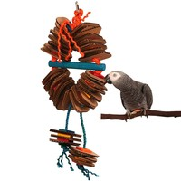Shredding Coronet Parrot Toy - Large