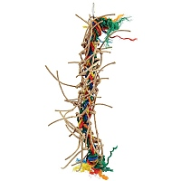 Plaited Preener Paper Rope Parrot Toy - Small
