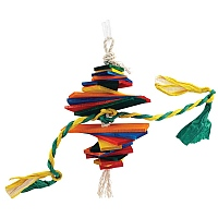 Popoff Wood & Rope Parrot Toy - Small