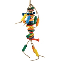 Dynamite Wood & Rope Parrot Toy -  Extra Small