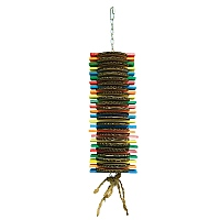 Cookie Stack Wood & Cardboard Parrot Toy Large