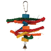 Tournicotti Wood & Rope Parrot Toy - Small