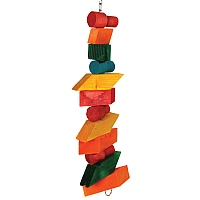 Block Tower Chunky Wood Parrot Toy