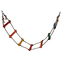 Jute Rope Ladder Parrot Toy - 4 foot